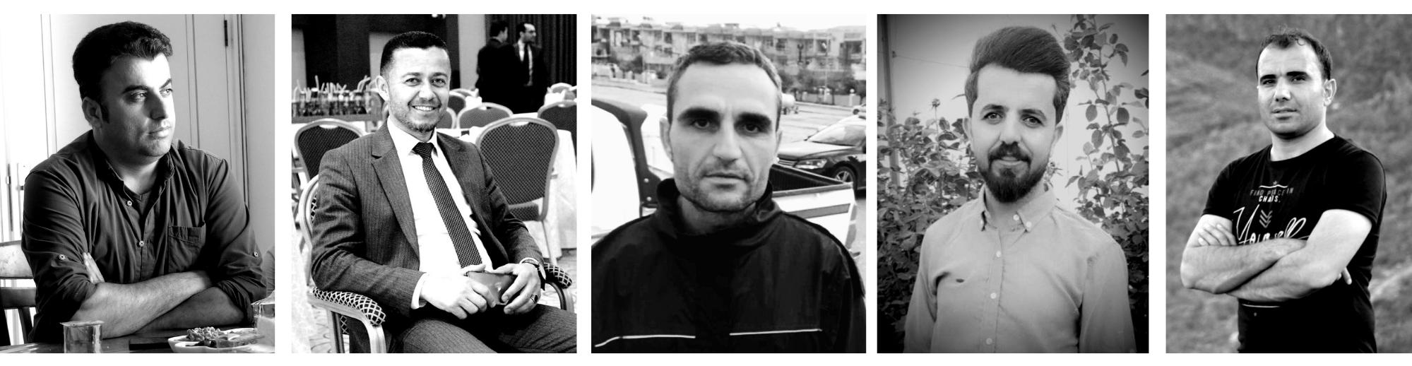 BW portraits of six men, badinan prisoners